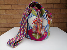 Load image into Gallery viewer, Authentic Handmade Mochilas Wayuu Bags- Carnaval de Color