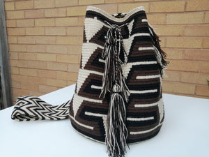 Authentic Bags Mochilas Wayuu - Café 3