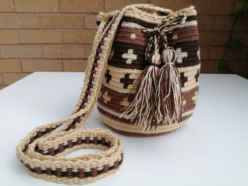 Authentic Handmade Mochilas Wayuu Bags - Small Zipaquira