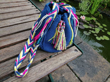 Load image into Gallery viewer, Authentic Handmade Mochilas Wayuu Bags - Small Blue 10