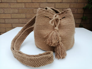 Authentic Handmade Mochilas Wayuu Bags - Small Brown