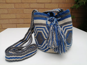 Authentic Handmade Mochilas Wayuu Bags - Small Blue