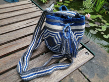 Load image into Gallery viewer, Authentic Handmade Mochilas Wayuu Bags - Small Blue