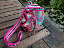 Load image into Gallery viewer, Authentic Handmade Mochilas Wayuu Bags - Small Pink 12