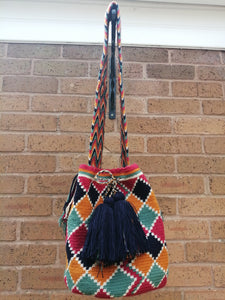 Cross-body Handmade Bags Mochilas Wayuu Collection Caribe - Palomino