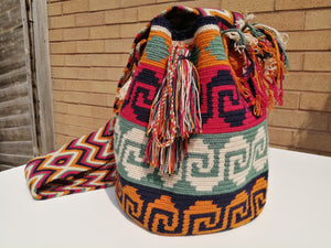 Cross-body Handmade Bags Mochilas Wayuu Collection Caribe - Guajira
