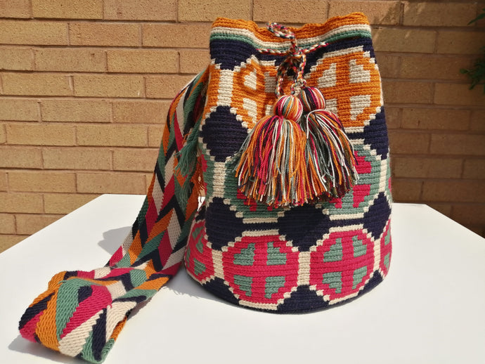 Cross-body Handmade Bags Mochilas Wayuu Collection Caribe - Las Olas