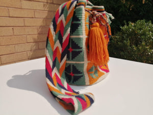 Cross-body Handmade Bags Mochilas Wayuu Collection Caribe - Barú