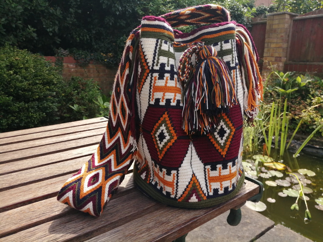 Handmade Cross-body Bags Mochilas Wayuu Collection Andes - Sopó