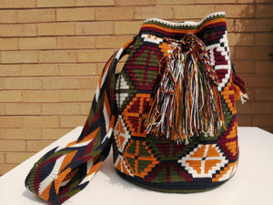 Handmade Cross-body Bags Mochilas Wayuu Collection Andes - Zipaquirá