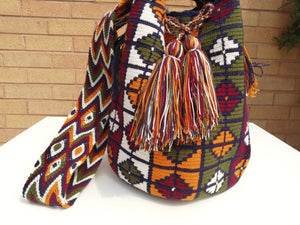Handmade Cross-body Bags Mochilas Wayuu Collection Andes - Chiquinquirá