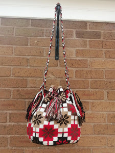 Handmade Cross-body Bags Mochilas Wayuu Collection Andes - Rosales