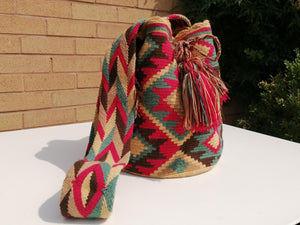 Handmade Cross-body Bags Mochilas Wayuu Collection Andes - Rosa