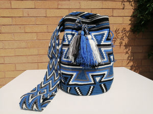 Handmade Cross-body Bags Mochilas Wayuu Collection Oceano Azul - Bolívar