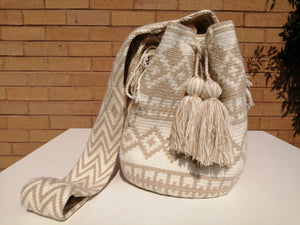 Handmade Cross-body Bags Mochilas Wayuu Collection Natural - Armenía