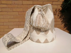 Handmade Cross-body Bags Mochilas Wayuu Collection Natural - Salento