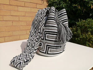 Handmade Cross-body Bags Mochilas Wayuu Collection Natural - Valle