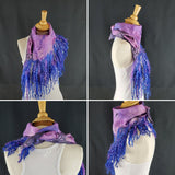 Lively Pink & Blue Full Fringe - Designer Wrap