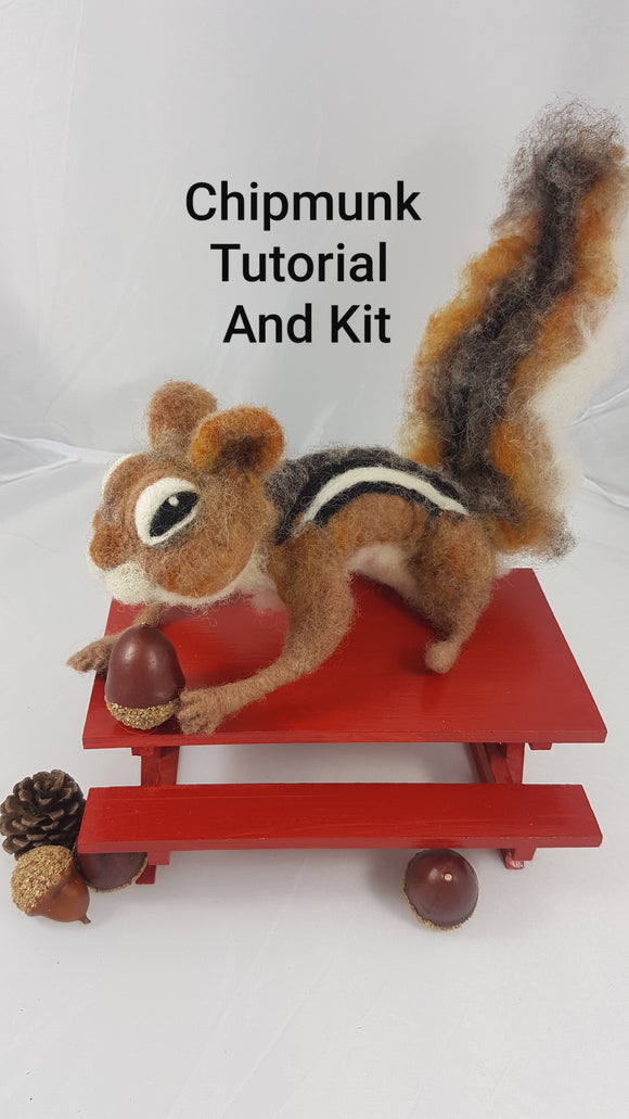 Chipmunk - Needle Felting Kit & Tutorial