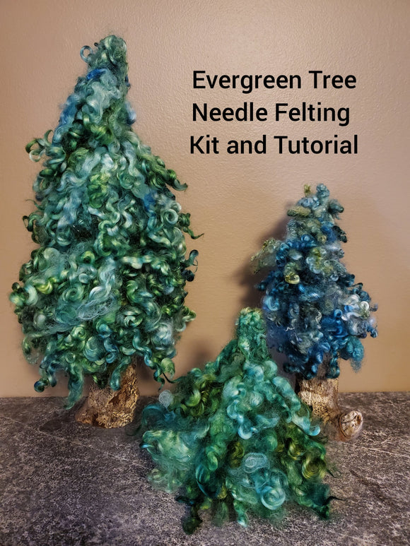 Evergreen Tree - Needle Felting Kit & Tutorial