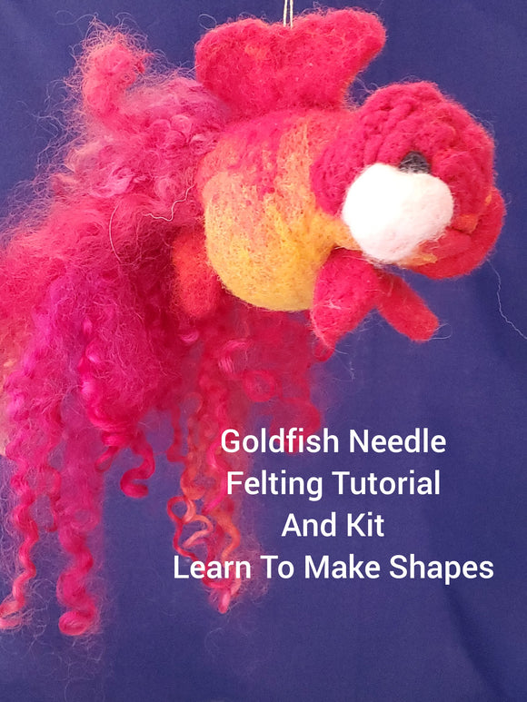Goldfish Needle -  Needle Felting Kit & Tutorial