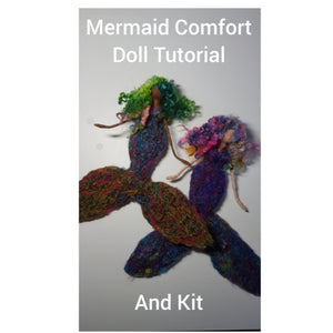 Mermaid Comfort Doll - Needle Felting Kit & Tutorial