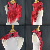 Elegant Red Full Fringe - Designer Wrap