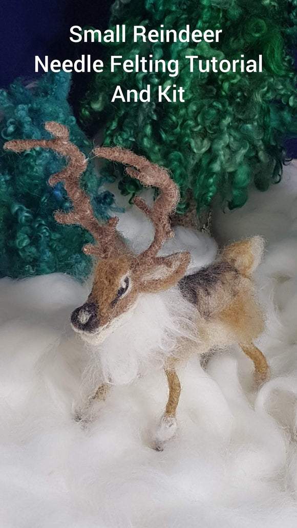 Small Reindeer -  Needle Felting Kit & Tutorial