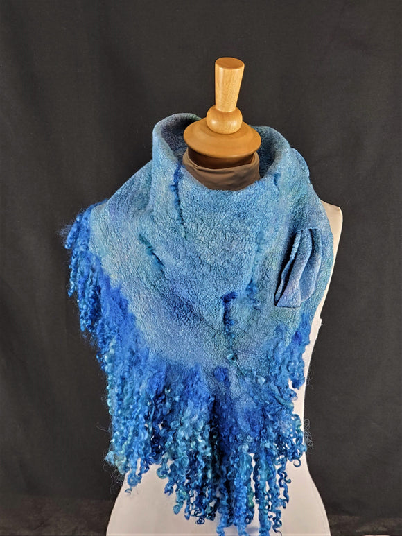 Fabulous Blue Full Fringe - Designer Wrap