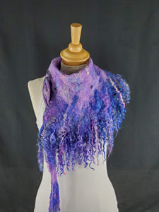 Playful Pink, Purple, & Blue Full Fringe - Designer Wrap