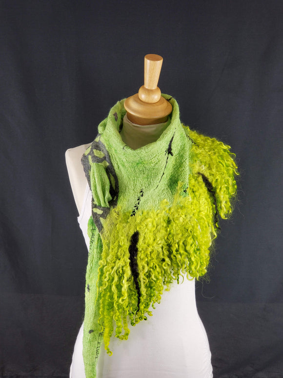 Fabulous Lime Yellow Full Fringe - Designer Wrap