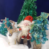 Small Santa - Needle Felting Kit & Tutorial