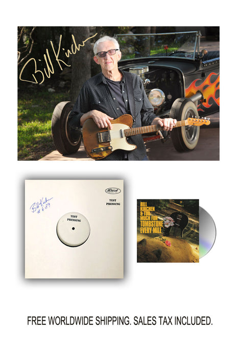 Bill Kirchen Signed Limited Edition Vinyl Test Pressing Bundle Pre-Order