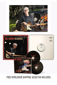 "Bill Kirchen Signed Limited Edition Signed ""Waxworks"" Vinyl Test Pressing Bundle"