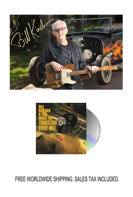 Bill Kirchen Signed Limited Edition Photo with CD Bundle Pre-Order