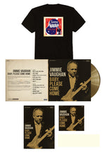 Load image into Gallery viewer, Jimmie Vaughan Signed Limited Edition Aztec Gold Vinyl Bundle w/ Austin Tee