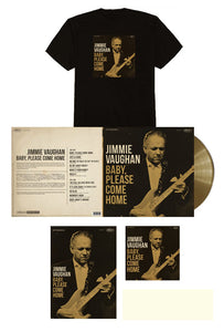 Jimmie Vaughan Signed Limited Edition Aztec Gold Vinyl Bundle