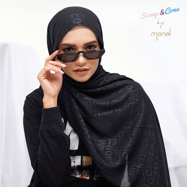 Pashmina Embossed Black