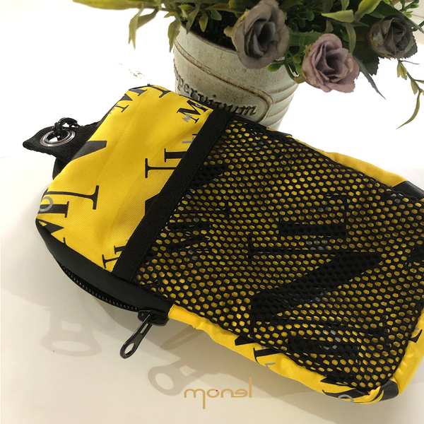 Neck wallet & phone pouch Yellow