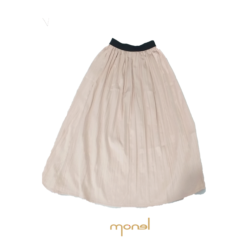 Crinkle Pleated Skirt Pink