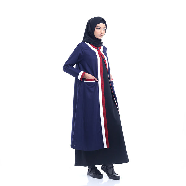 Navy-Red Outer