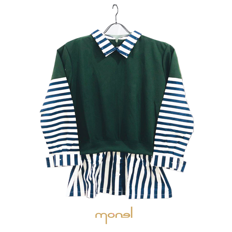 Wrap Stripe Top