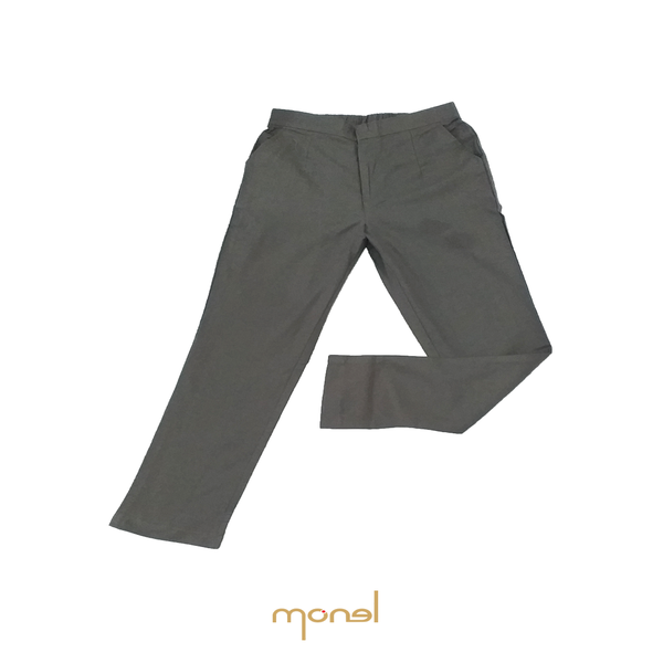 Pencil Linen Pants Grey