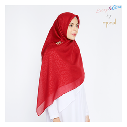 Embossed Syar'i Red