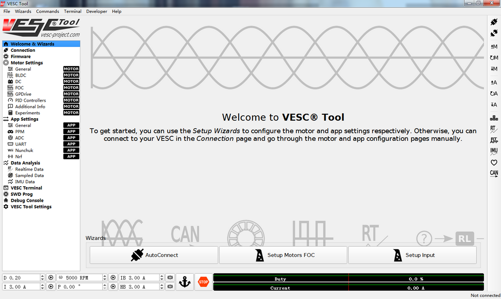 Motor Detection in VESC_TOOL Step by Step Guide.