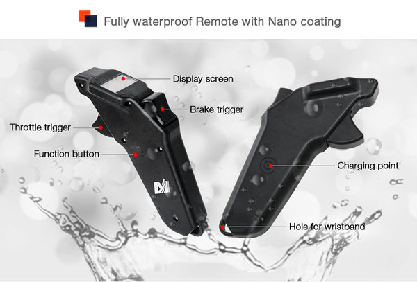 Fully waterproof remote for electric skateboard/longboard/robotics/walking robotics/airplane/Esk8/mountainboard/all terrain offroad skateboard/Esurf/Eskate/Efoil/Foilsurf/jetboard/jetski/hydrofoil