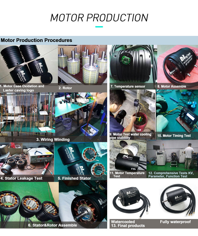 maytech 120116 motor production process waterproof testing dynamic performance function testing