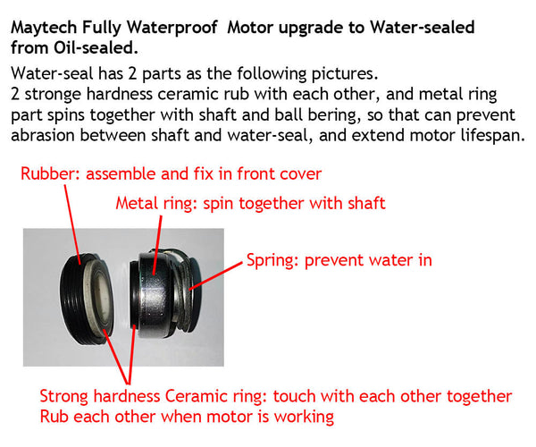 Maytech MTI85165 Fully Waterproof motor with water-cooling and without water-cooling versions