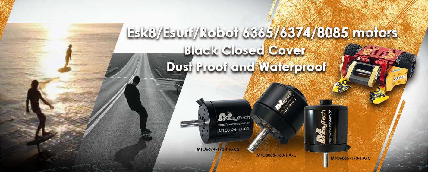 Maytech brushless outrunner motor for electric skateboard 6355/6374/6365.6880/6396 sensored brushless engines