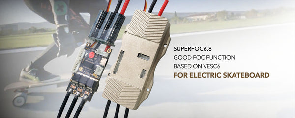 SUPERFOC6.8 50A VESC6-based speed controller compatible to VESCtool Programmable for Esk8/Ebike
